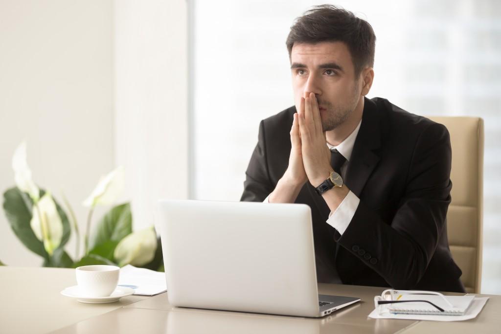 employee thinking