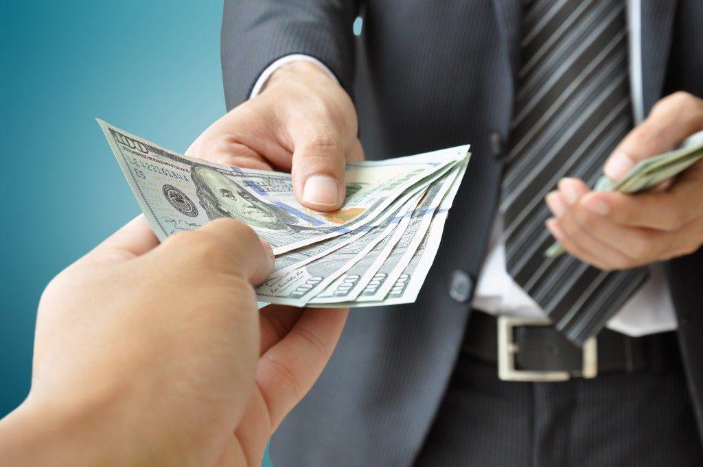 receiving money from businessman